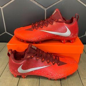 Nike Vapor Untouchable Pro Red Silver Sport Cleats